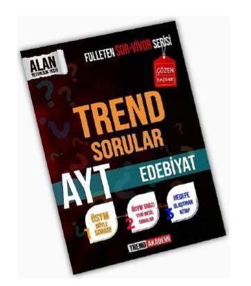 Trend Akademi Yayınları YKS AYT Edebiyat Trend Sorular Fulleten Sor-Vivor Serisi
