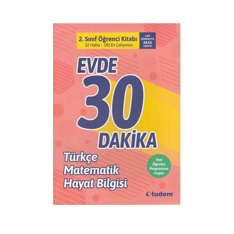 Tudem Yayınları 2. Sınıf Evde 30 Dakika Türkçe Matematik Hayat Bilgisi Soru Ev Çalışması