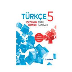Tudem Yayınları - Tudem Yayınları 5. Sınıf Türkçe Kazanım Odaklı Soru Bankası