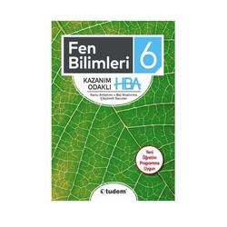 Tudem Yayınları - Tudem Yayınları 6. Sınıf Fen Bilimleri Kazanım Odaklı HBA