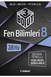 Tudem Yayınları - Tudem Yayınları 8. Sınıf Fen Bilimleri 3 Boyut 28'li Föy