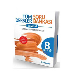 Tudem Yayınları - Tudem Yayınları 8. Sınıf Tüm Dersler Sayısal Soru Bankası