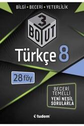 Tudem Yayınları - Tudem Yayınları 8. Sınıf Türkçe 3 Boyut 28'li Föy