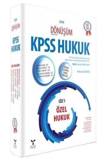 Umuttepe Yayınları Dönüşüm KPSS A Grubu Özel Hukuk Cilt 1 Tamamı Çözümlü Çıkmış Sorular