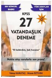 Yazarın Kendi Yayını - Yakup Karataş KPSS Vatandaşlık 27 Deneme