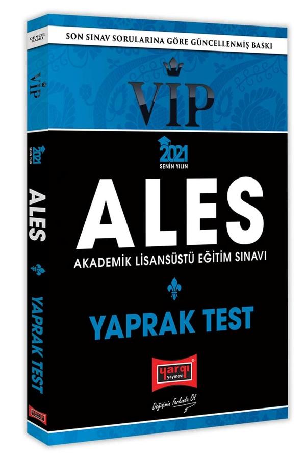 Yargı Yayınları 2021 ALES VIP Yaprak Test