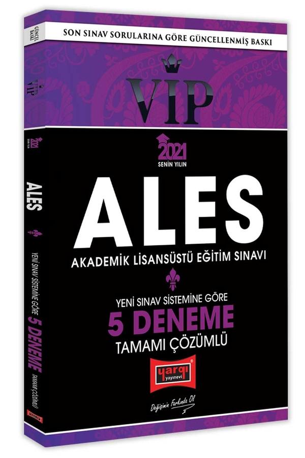 Yargı Yayınları 2021 ALES VIP Yeni Sınav Sistemine Göre Tamamı Çözümlü 5 Deneme