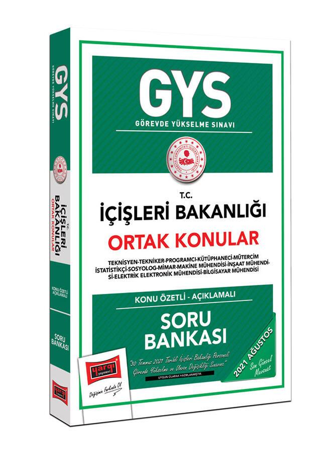 Yargı Yayınları GYS İçişleri Bakanlığı Ortak Konular Konu Özetli Soru Bankası