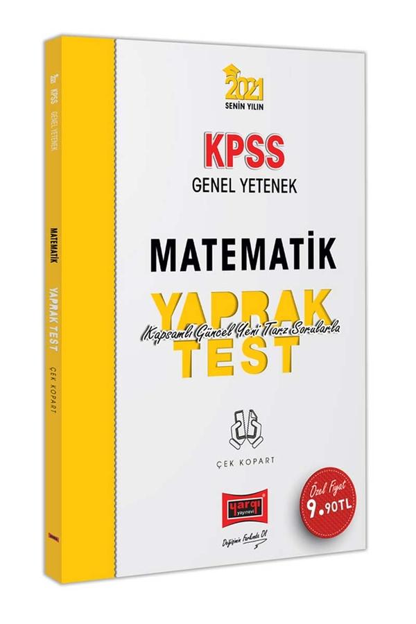 Yargı Yayınları 2021 KPSS Genel Yetenek Matematik Çek Kopart Yaprak Test