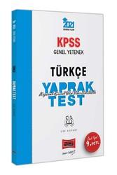 Yargı Yayınları - Yargı Yayınları 2021 KPSS Genel Yetenek Türkçe Çek Kopart Yaprak Test