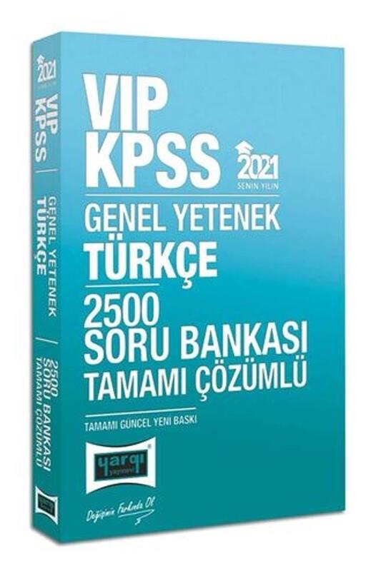 Yargı Yayınları 2021 KPSS VIP Türkçe Tamamı Çözümlü 2500 Soru Bankası Hediyeli