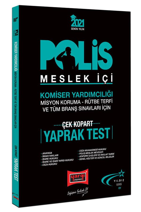 Yargı Yayınları 2021 Polis Meslek İçi Sınavlarına Hazırlık Çek Kopart Yaprak Test