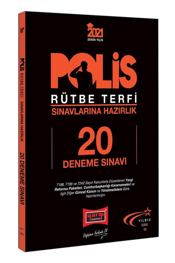 Yargı Yayınları 2021 Polis Rütbe Terfi Sınavlarına Hazırlık 20 Deneme Sınavı