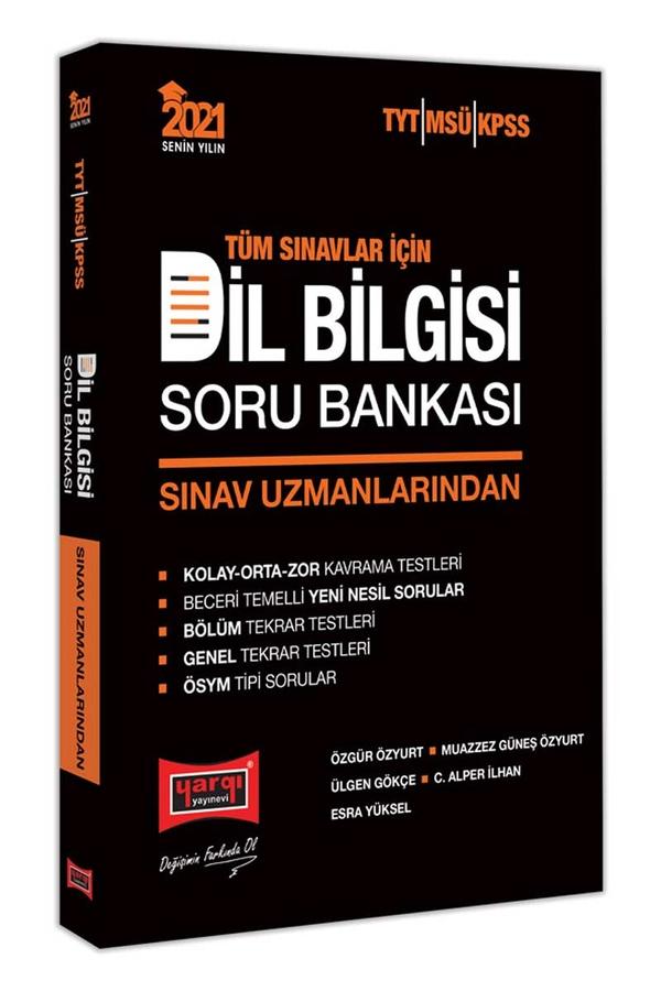 Yargı Yayınları 2021 Tüm Sınavlar İçin Sınav Uzmanlarından Dil Bilgisi Soru Bankası