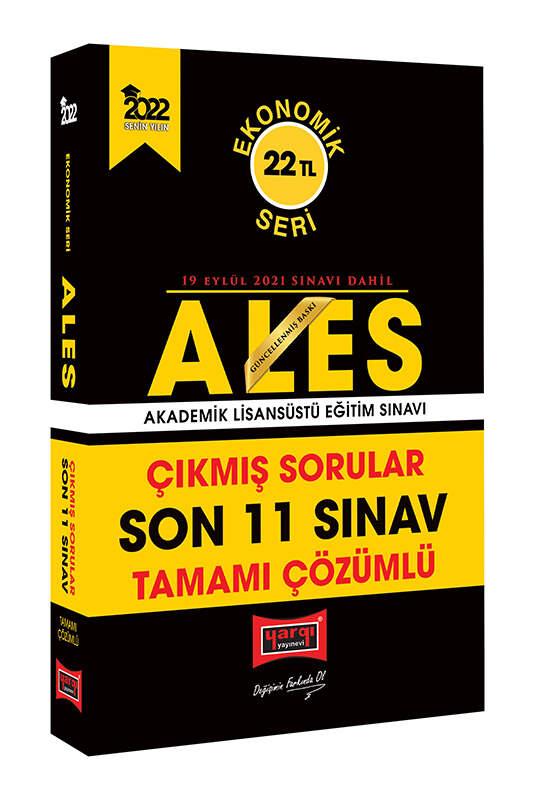Yargı Yayınları 2022 ALES Ekonomik Seri Tamamı Çözümlü Son 11 Sınav Çıkmış Sorular