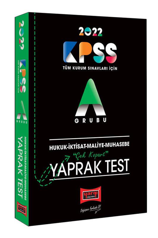 Yargı Yayınları 2022 KPSS A Hukuk İktisat Maliye Muhasebe Çek Kopart Yaprak Test