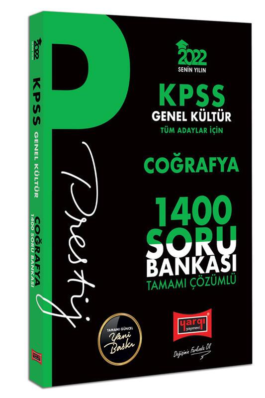 Yargı Yayınları 2022 KPSS Genel Kültür Coğrafya Prestij Seri Tamamı Çözümlü 1400 Soru Bankası