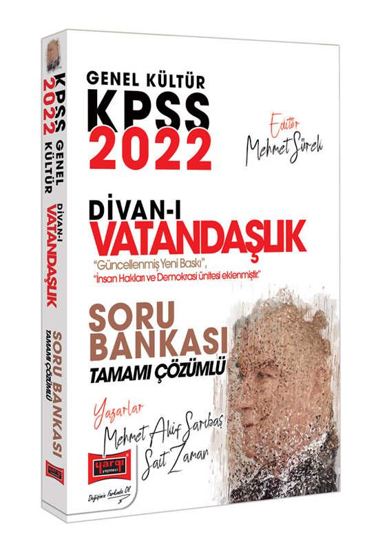 Yargı Yayınları 2022 KPSS Genel Kültür Divan-ı Vatandaşlık Tamamı Çözümlü Soru Bankası