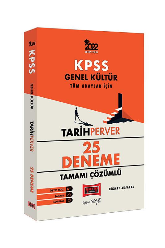 Yargı Yayınları 2022 KPSS Genel Kültür TarihPerver Tamamı Çözümlü 25 Deneme