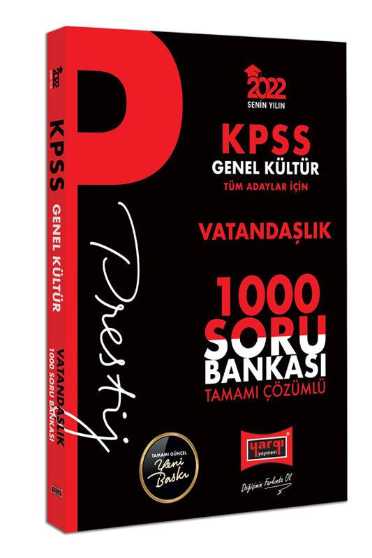 Yargı Yayınları 2022 KPSS Genel Kültür Vatandaşlık Prestij Seri Tamamı Çözümlü 1000 Soru Bankası