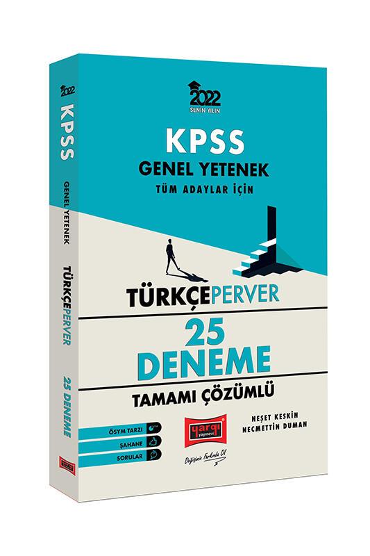 Yargı Yayınları 2022 KPSS Genel Yetenek TürkçePerver Tamamı Çözümlü 25 Deneme