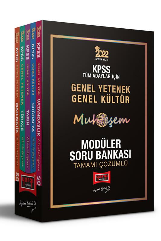 Yargı Yayınları 2022 KPSS GY GK Muhteşem Tamamı Çözümlü Modüler Soru Bankası