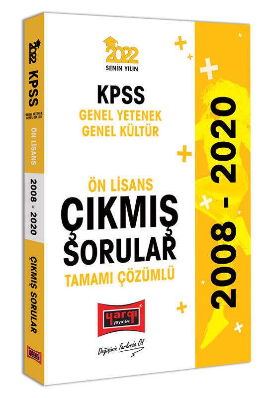 Yargı Yayınları 2022 KPSS GY GK Ön Lisans Tamamı Çözümlü Çıkmış Sorular