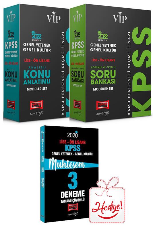 Yargı Yayınları 2022 KPSS Lise Ön Lisans Modüler Konu ve Soru Bankası Seti