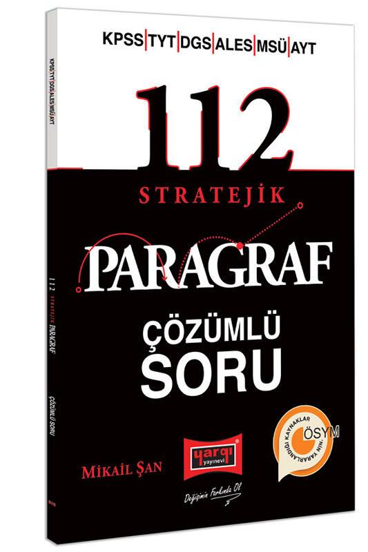 Yargı Yayınları 2022 KPSS YKS DGS ALES MSÜ 112 Stratejik Çözümlü Soru Bankası