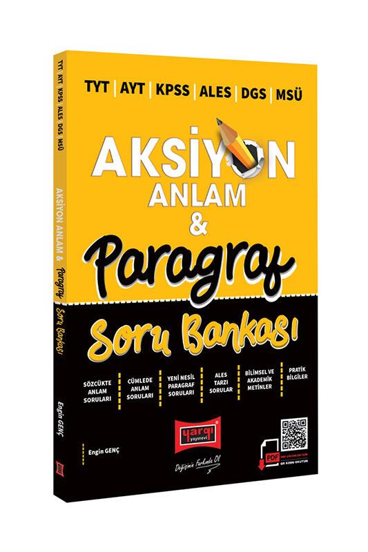 Yargı Yayınları 2022 TYT AYT KPSS ALES DGS MSÜ Aksiyon Anlam & Paragraf Soru Bankası