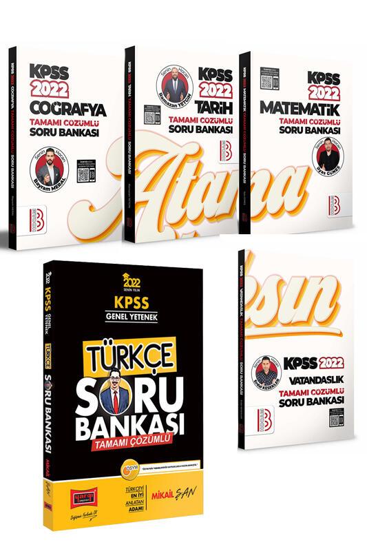 Yargı Yayınları & Benim Hocam Yayınları 2022 KPSS GY GK 5'li Muhteşem Set