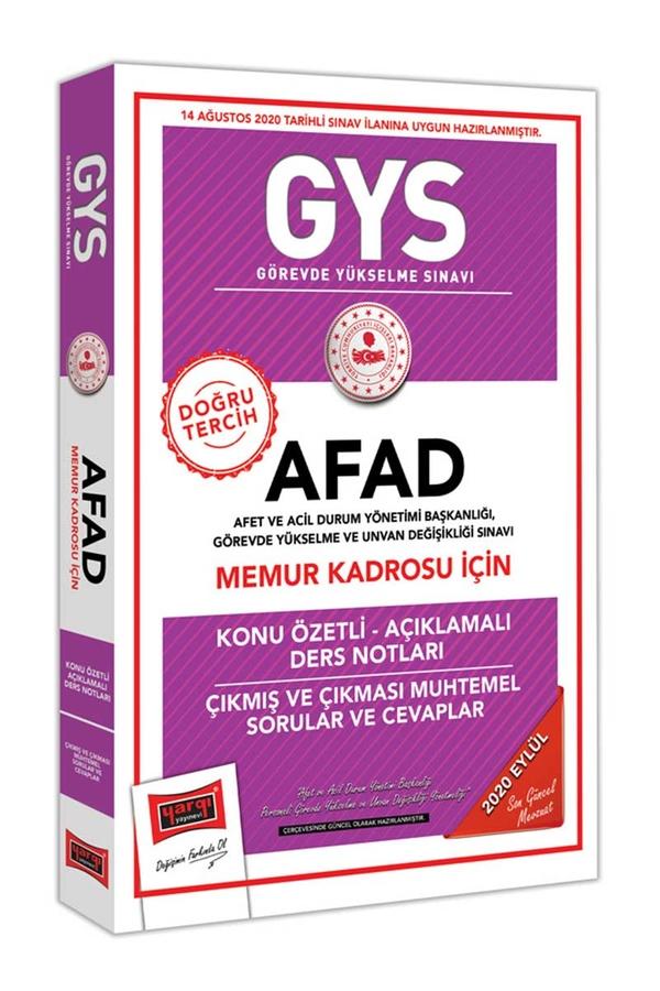Yargı Yayınları GYS AFAD Memur Kadrosu İçin Konu Özetli Çıkmış ve Çıkması Muhtemel Sorular