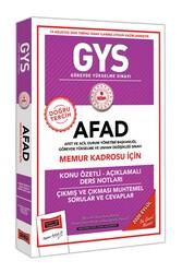 Yargı Yayınları - Yargı Yayınları GYS AFAD Memur Kadrosu İçin Konu Özetli Çıkmış ve Çıkması Muhtemel Sorular