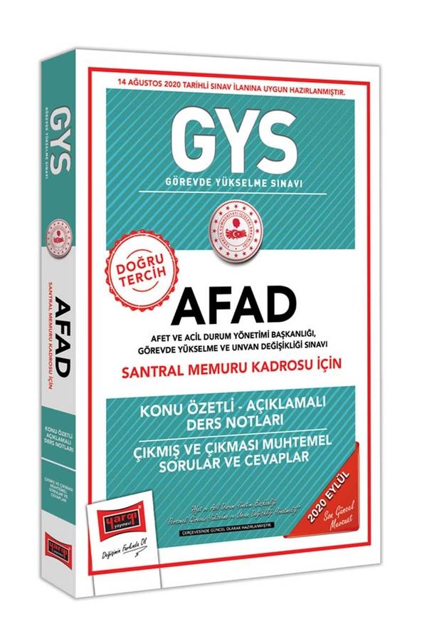 Yargı Yayınları GYS AFAD Santral Memuru Kadrosu İçin Konu Özetli Çıkmış ve Çıkması Muhtemel Sorular