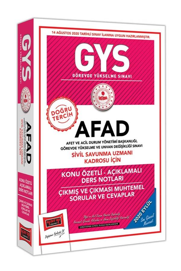 Yargı Yayınları GYS AFAD Sivil Savunma Uzmanı Kadrosu İçin Konu Özetli Çıkmış ve Çıkması Muhtemel Sorular