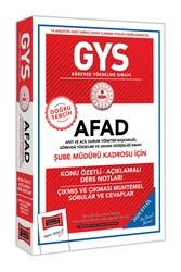 Yargı Yayınları - Yargı Yayınları GYS AFAD Şube Müdürü Kadrosu İçin Konu Özetli Çıkmış ve Çıkması Muhtemel Sorular