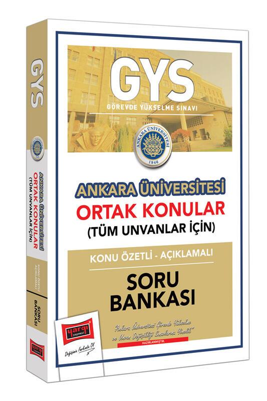 Yargı Yayınları GYS Ankara Üniversitesi Ortak Konular Konu Özetli - Açıklamalı Soru Bankası