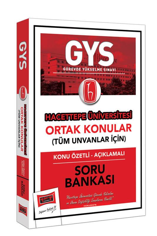 Yargı Yayınları GYS Hacettepe Üniversitesi Ortak Konular Konu Özetli - Açıklamalı Soru Bankası