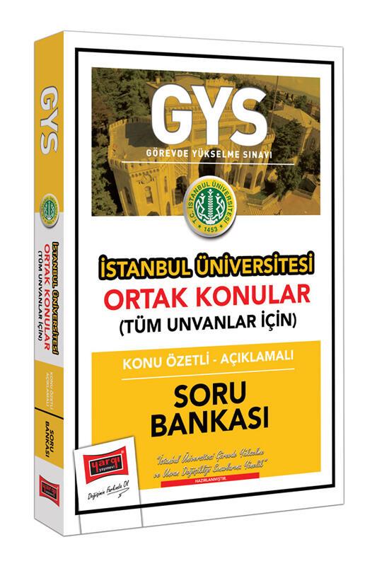 Yargı Yayınları GYS İstanbul Üniversitesi Ortak Konular Konu Özetli - Açıklamalı Soru Bankası