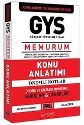 Yargı Yayınları - Yargı Yayınları GYS Kamu Kurum ve Kuruluşlarında MEMURUM Konu Anlatımı