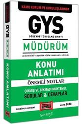 Yargı Yayınları - Yargı Yayınları GYS Kamu Kurum ve Kuruluşlarında MÜDÜRÜM Konu Anlatımı