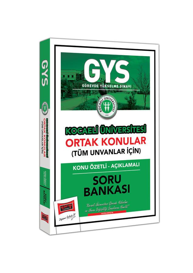 Yargı Yayınları GYS Kocaeli Üniversitesi Ortak Konular Konu Özetli - Açıklamalı Soru Bankası