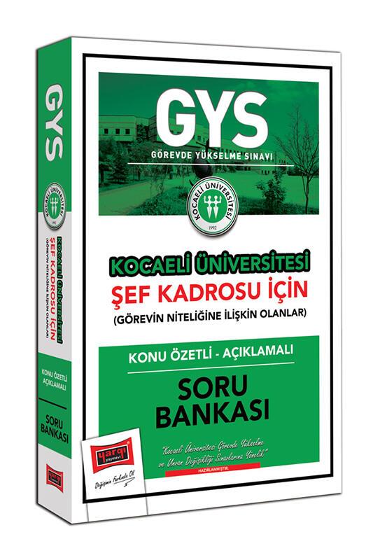 Yargı Yayınları GYS Kocaeli Üniversitesi Şef Kadrosu İçin Konu Özetli Açıklamalı Soru Bankası