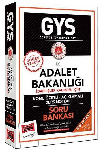 Yargı Yayınları GYS T.C. Adalet Bakanlığı İdari İşler Kadrosu İçin Konu Özetli Soru Bankası