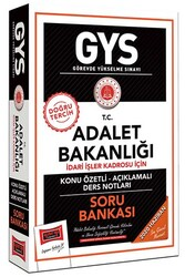 Yargı Yayınları - Yargı Yayınları GYS T.C. Adalet Bakanlığı İdari İşler Kadrosu İçin Konu Özetli Soru Bankası
