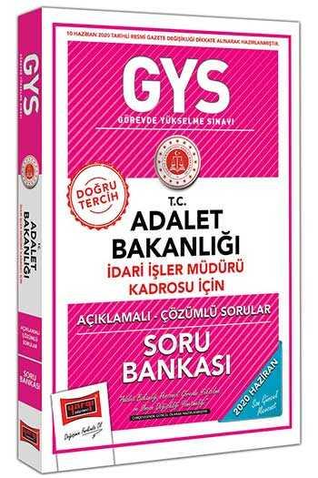 Yargı Yayınları GYS T.C. Adalet Bakanlığı İdari İşler Müdürü Kadrosu İçin Açıklamalı Soru Bankası