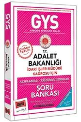 Yargı Yayınları - Yargı Yayınları GYS T.C. Adalet Bakanlığı İdari İşler Müdürü Kadrosu İçin Açıklamalı Soru Bankası