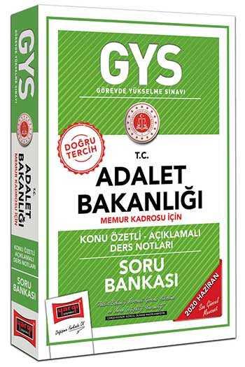 Yargı Yayınları GYS T.C. Adalet Bakanlığı Memur Kadrosu İçin Konu Özetli Soru Bankası