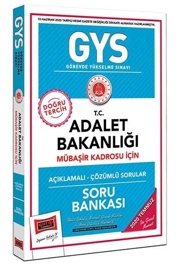 Yargı Yayınları GYS T.C. Adalet Bakanlığı Mübaşir Kadrosu İçin Açıklamalı Soru Bankası