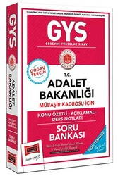 Yargı Yayınları - Yargı Yayınları GYS T.C. Adalet Bakanlığı Mübaşir Kadrosu İçin Konu Özetli Açıklamalı Soru Bankası